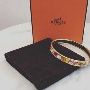 Hermes multi-colour bangle
